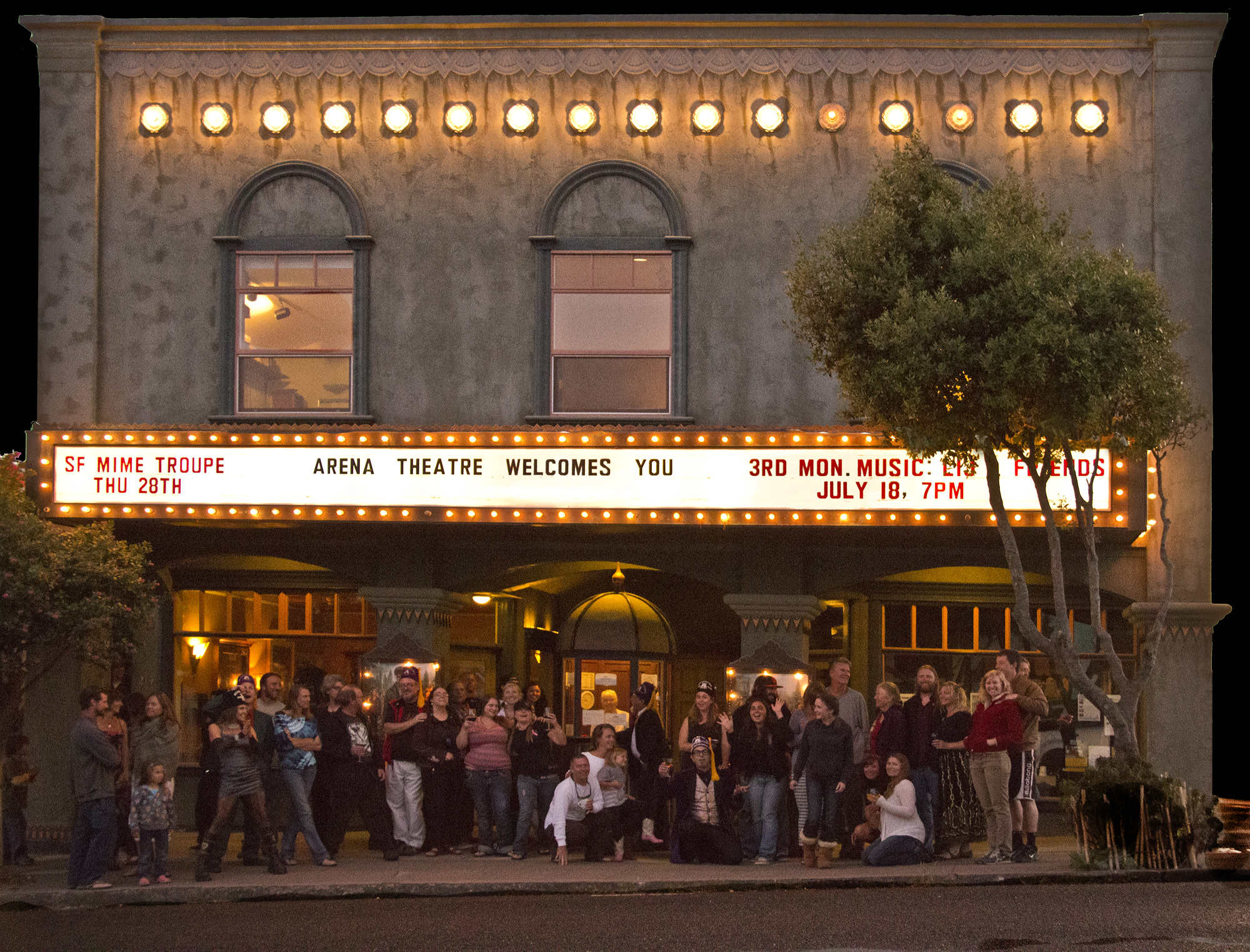 Arena Theater night crowd