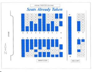 seating chart have a seat at Arena Theater