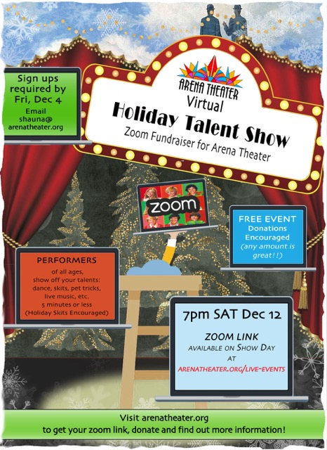 Virtual Holiday Talent Show at Arena Theater